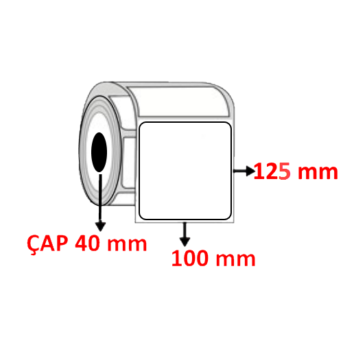 Vellum 100 mm x 125 mm Barkod Etiketi ÇAP 40 mm ( 6 Rulo ) 2.400 ADET