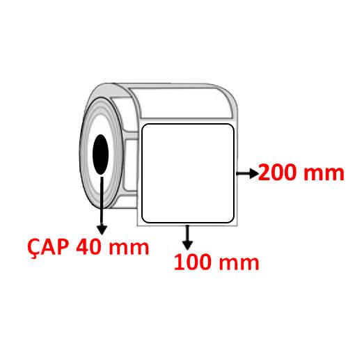 Vellum 100 mm x 200 mm Barkod Etiketi ÇAP 40 mm ( 6 Rulo )