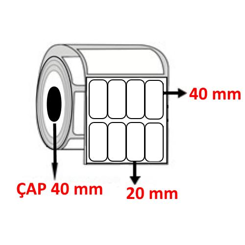 Vellum 20 mm x 40 mm YY4 LÜ  Barkod Etiketi ÇAP 40 mm ( 6 Rulo ) 27.600 ADET