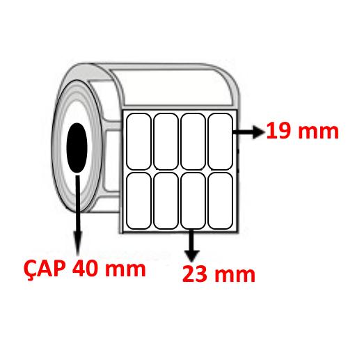 Vellum 23 mm x 19 mm YY4 LÜ  Barkod Etiketi ÇAP 40 mm ( 6 Rulo ) 10.800 ADET