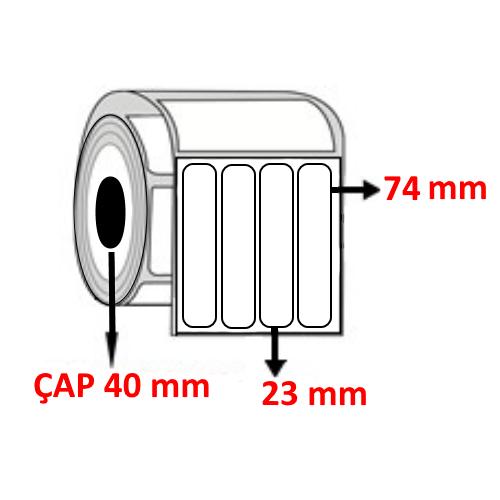 Vellum 23 mm x 74 mm YY4 LÜ Barkod Etiketi ÇAP 40 mm ( 6 Rulo ) 9.000 ADET
