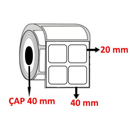 Vellum 40 mm x 20 mm YY2 Lİ Barkod Etiketi ÇAP 40 mm ( 6 Rulo ) 24.000  ADET