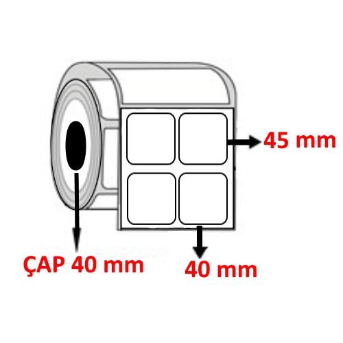 Vellum 40 mm x 45 mm YY2 Lİ Barkod Etiketi ÇAP 40 mm ( 6 Rulo )