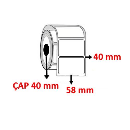 Vellum 58 mm x 40 mm Barkod Etiketi ÇAP 40 mm ( 6 Rulo ) 3.000 ADET