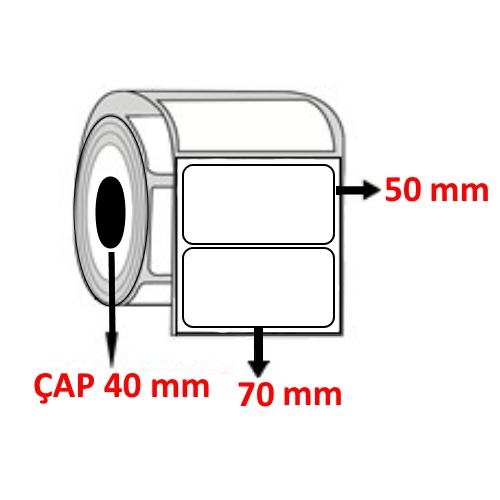 Vellum 70 mm x 50 mm Barkod Etiketi ÇAP 40 mm ( 6 Rulo ) 6.000  ADET