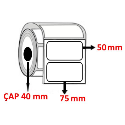Vellum 75 mm x 50 mm Barkod Etiketi ÇAP 40 mm ( 6 Rulo ) 6.000  ADET