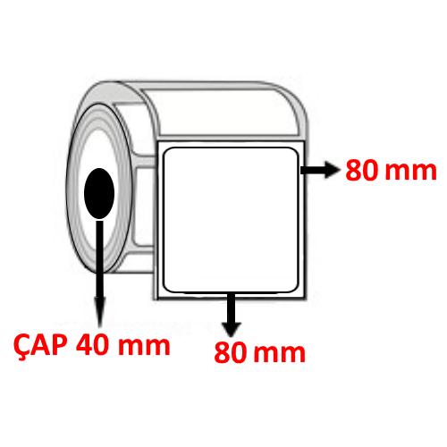 Vellum 80 mm x 80 mm  Barkod Etiketi ÇAP 40 mm ( 6 Rulo ) 4.200  ADET