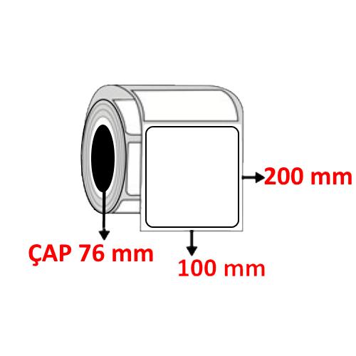Kuşe 100 mm x 200 mm Barkod Etiketi ÇAP 76 mm ( 6 Rulo )