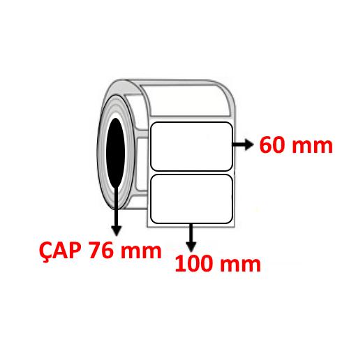 Kuşe 100 mm x 60 mm Barkod Etiketi ÇAP 76 mm ( 6 Rulo ) 14.000 ADET