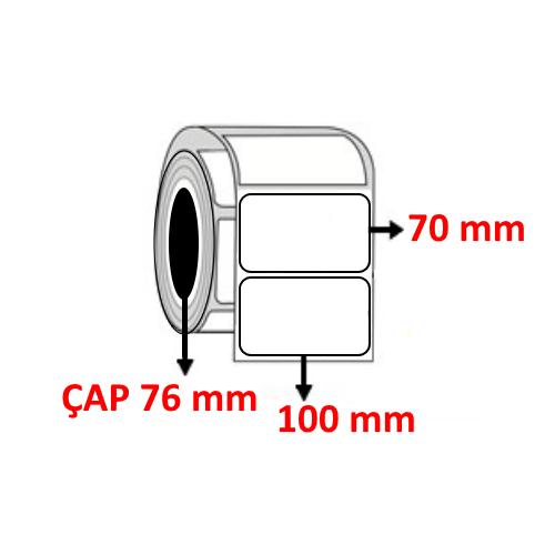 Kuşe 100 mm x 70 mm Barkod Etiketi ÇAP 76 mm ( 6 Rulo )
