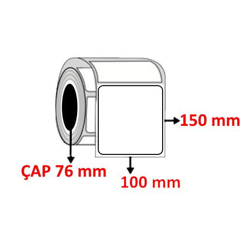 Silver Mat 100 mm x 150 mm Barkod Etiketi ÇAP 76 mm ( 6 Rulo )
