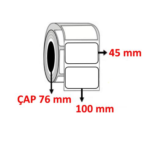 Silver Mat 100 mm x 45 mm Barkod Etiketi ÇAP 76 mm ( 6 Rulo )