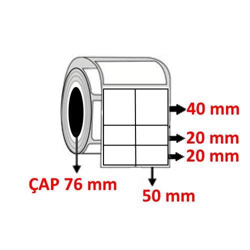 Silver Mat 100 mm x 80 mm ( 50/40+20+20 )Barkod Etiketi ÇAP 76 mm ( 6 Rulo )