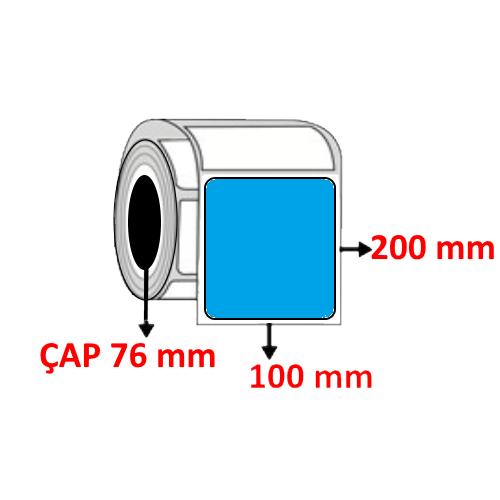 Mavi Renkli 100 mm x 200 mm Barkod Etiketi ÇAP 76 mm ( 6 Rulo )
