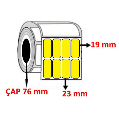 Sarı Renkli 23 mm x 19 mm YY4 LÜ Barkod Etiketi ÇAP 76 mm ( 6 Rulo )